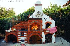 Cuptorul lui Vlad – eGratare Outdoor Living, Pergola, Bbq, Christmas Ornaments, Holiday Decor, Modern, Painting, Wood Stoves, Fireplaces