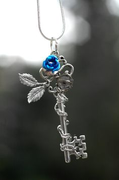 Blue key for Brownie Quest Necklace