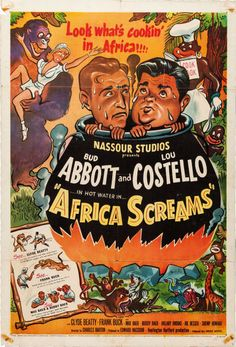 Abbott and Costello Movie Poster with Racist overtones