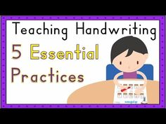 This video shares five core principles for making handwriting instruction highly effective and engaging. Kindergarten Handwriting, Teaching Handwriting, Handwriting Practice, Preschool Schedule, Kindergarten Activities, Writing Problems, Independent Student, Handwriting Analysis, Letter Formation