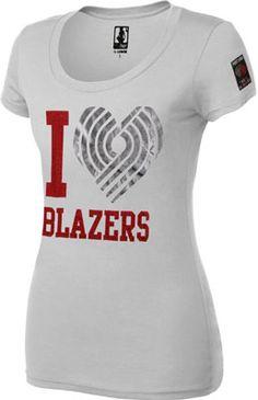Portland Trail Blazers Women's Whole Hearted T-Shirt. SUPER cute!