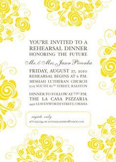 "Rehearsal Dinner Invitation Wording  ""Honoring the Future Mr. & Mrs. ..."""