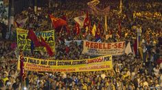 Protest in Belem, Para state on 17 June 2013