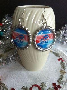 Buffalo Bills earrings from my Etsy shop https://www.etsy.com/listing/210596136/buffalo-bills-earrings-buffalo-bills #BuffaloBills