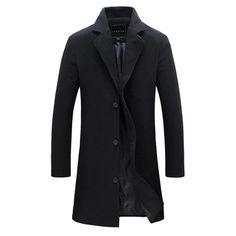 Men's Solid Color Woolen Coat – 4launt
