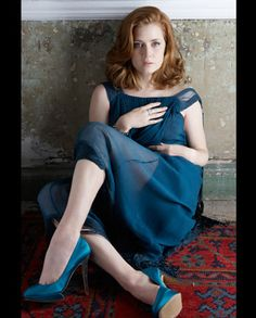 Amy Adams, I love her hair. She always looks great in photos. I love her in this blue!