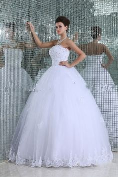 Embroidery Ball Gown White Quinceanera Dress