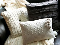Weekend Project: Make A Cozy Sweater Pillow Cover #DIY