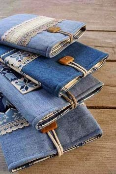 Here are 15 DIY ideas to reuse your denim and give them a fresh life.     1. Reshape into this skirt #diyjeansideas
