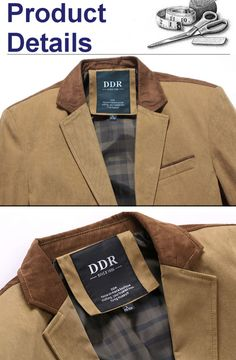 0e9c924f Mens Autumn Winter Casual Stitching Jacket Slim Fit Single-breasted  Business Blazer at Banggood