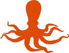 Octopus with Wavy Tentacles vinyl decal sticker