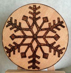 Wood burned ornament • Christmas • holidays • winter decor by MShelsJewels on Etsy https://www.etsy.com/listing/457560282/wood-burned-ornament-christmas-holidays