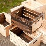 Nova vida para: caixotes de madeira