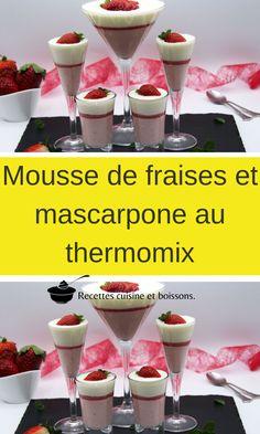 Mousse Mascarpone, Dessert Thermomix, Flan, Sorbet, Martini, Alcoholic Drinks, Fruit, Tableware, Sweet Recipes