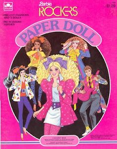 Oh wow.....paper dolls!!! Man I'm so old...but I love the 80's