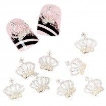 Metal Crowns Cabochon Nail Studs #bundlemonster & #shopbm NEEEEEEEEED!