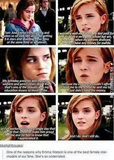 Emma Watson is amazing. Forget every other female in the entertainment industry, THIS is the woman EVERY little/teenage/young adult girl should look up to. Emma Watson is one in a billion. Hogwarts, Harry Potter Love, Harry Potter Fandom, Harry Potter Twilight, Young Harry Potter, Harry Potter Facts, Harry Potter Books, Bonnie Wright, Movies Quotes