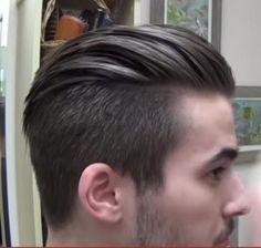 New hair men back menswear Ideas Slick Hairstyles, Undercut Hairstyles, Funky Hairstyles, Formal Hairstyles, Cool Haircuts, Haircuts For Men, Slick Back Hair Fade, Hair And Beard Styles, Short Hair Styles