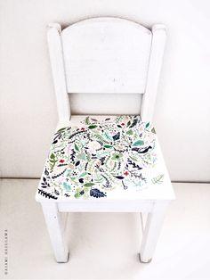 Hand Painted Modern Flower Kids Wooden Chair Makeover