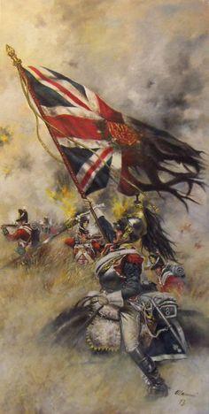 Derniere Trophèe. Corazziere in uniforme da campagna, VIII reggimento, Waterloo, 18 giugno 1815