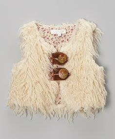Take a look at this Ivory Faux Fur Vest - Infant, Toddler & Girls by Baby Sara on #zulily today!