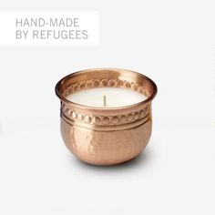 Sisterhood Candles: Hand-hammered Copper 3-inch Votive