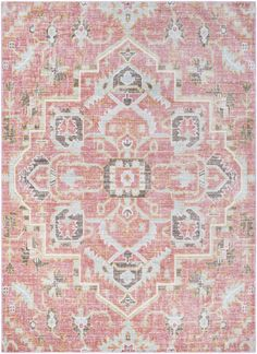 Shop for Hali-House Distressed Persian Vintage Pale-Pink Area Rug - x Get free delivery On EVERYTHING* Overstock - Your Online Home Decor Store! Yellow Area Rugs, Pink Rugs, Coral Rug, Traditional Area Rugs, Modern Farmhouse Style, Farmhouse Rugs, My New Room, Pale Pink, Pink Blue