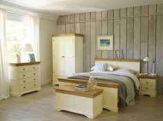 Country Cottage : for simple, pretty bedroom styles. Painted cream, solid oak for a classic and timeless look.