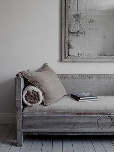 gustavian  //love the greys// Rustic Chic