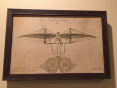 A personal favorite from my Etsy shop https://www.etsy.com/listing/258136809/vintage-flying-machine-diagram-c1807