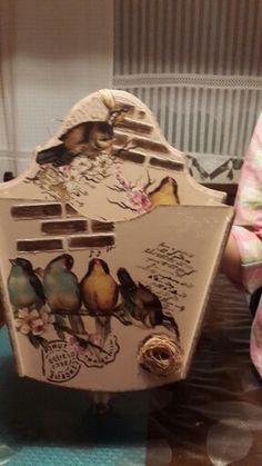 ekmeklik Scrap, Shabby, Decoupage Box, Painting On Wood, Stencils, Arts And Crafts, Organization, Vintage, Arabesque