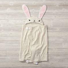 Shop Bunny Petting Zoo Hooded Towel.  What makes our Petting Zoo Bunny Hooded Towels perfect for bath time? They're made from soft, 100% cotton, meaning, your little ones will love to snuggle with their favorite wild animal.