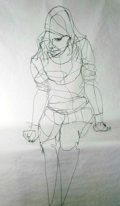 Wire-Sculptures-3D-sketch -wire-David-Oliveira-9