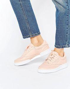 52b6b6f4ee27af Reebok Club C Sneakers In Nude Shoes Heels