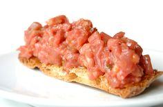 #SteakTartar en fina tosta