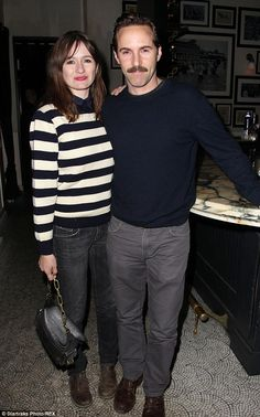 Date night! Actress Emily Mortimer also showed up to the premiere's after party along with...