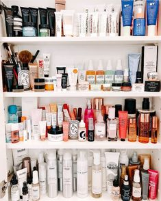 Photo shared by Shelfie Lust on April 2020 tagging and Image may contain: indoor via Care Organization, Bathroom Organization, Home Salon, Beauty Skin, Beauty Makeup, Huda Beauty, Best Natural Skin Care, Best Makeup Products, Nail Products