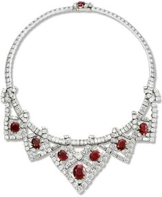 This necklace, made by Cartier Paris in 1951 and modified in 1953, was a gift to Elizabeth Taylor from her husband of the moment, Mike Todd....