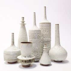 Made to order large collection of 7 sculptural modern