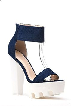 Features a open toe All Man made with Studs Gladiator style Shoes Sandals, Women's Heels, Platform High Heels, Dark Denim, Open Toe, Diva, Studs, Website, Products
