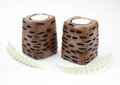 Australian made  rustic candle holder wooden candle holder