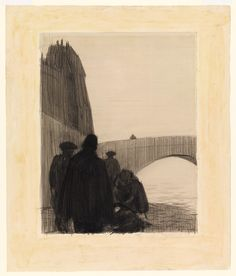 Whitney Museum of American Art: Edward Hopper: (On the Quai: The Suicide) American Realism, American Art, Edward Hopper Paintings, Ashcan School, Whitney Museum, Illustration Sketches, Illustrations, Contemporary Sculpture, 2d Art