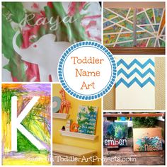 Toddler Name Art Ideas
