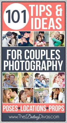 101 Tips & Ideas for Couples Photography. TONS of posing, location, and prop ideas and inspiration! Perfect for engagement and wedding pictures, an anniversary photo shoot, OR just to grab a couple great pictures of the parents during family pictures! Poses Photo, Picture Poses, Photo Tips, Photo Ideas, Picture Ideas, Couple Photography, Engagement Photography, Photography Poses, Wedding Photography