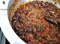 njahi with fresh finely chopped coriander_best njahi recipe_tuxedo bean_lablab…