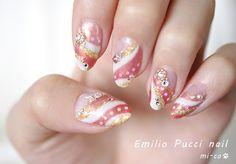 Pucci Nail(Pink&Gold)