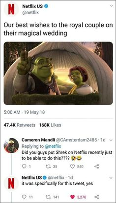 Netflix offers their best wishes to the royal couple