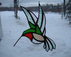 Meadowlark vidrieras suncatcher por UpNorthSuncatchers en Etsy