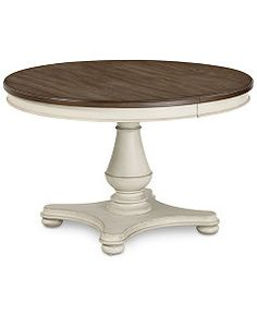 Barclay Expandable Round Dining Pedestal Table