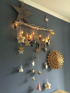 Kerst wanddecoratie christmas decoration walldecoration stars sterren